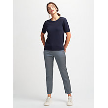 Buy Weekend MaxMara Plava Jacquard Slim Trousers, Avio Online at johnlewis.com