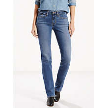 Buy Levi's 714 Mid Rise Straight Jeans, Blue Vista Online at johnlewis.com