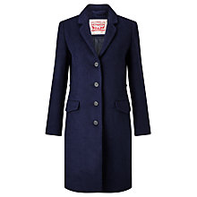 Buy Levi's Long Wool-Blend Coat, Nightwatch Blue Online at johnlewis.com