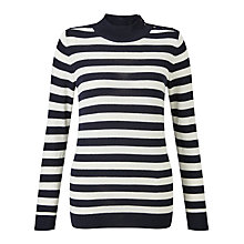 Buy Levi's Mockneck Stripe Jumper, Ivory/Navy Online at johnlewis.com