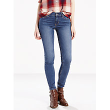 Buy Levi's 710 Mid Rise Super Skinny Jeans, Darling Blue Online at johnlewis.com