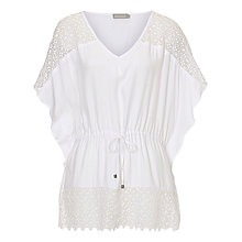 Buy Betty & Co. Crochet Tunic, Bright White Online at johnlewis.com