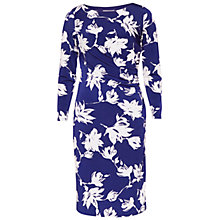 Buy Gina Bacconi Floral Print Jersey Dress, Royal Online at johnlewis.com
