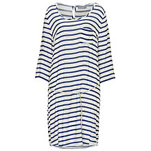 Buy Betty & Co. Drop Waist Striped Dress, Cream/Blue Online at johnlewis.com