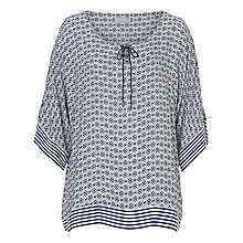 Buy Betty & Co. Graphic Print Top, Cream/Blue Online at johnlewis.com