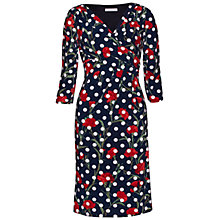 Buy Gina Bacconi Floral Spot Printed Jersey Dress, Navy/Red Online at johnlewis.com