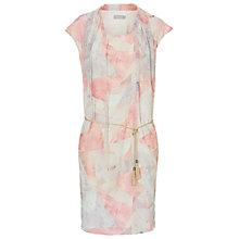 Buy Betty Barclay Print Drop Waist Dress, Red/Oyster Online at johnlewis.com