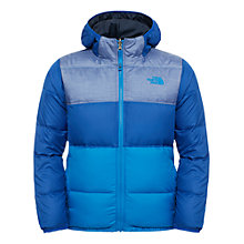 Buy The North Face Boys' Moondoggy Reversible Water Resistant Jacket, Honor Blue/Navy Online at johnlewis.com