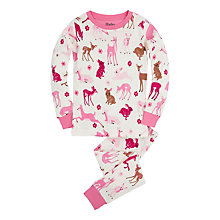 Buy Hatley Girls' Deer and Bunnies Pyjama Set, Pink Online at johnlewis.com