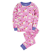 Buy Hatley Girls' Unicorn Print Pyjamas, Cerise Online at johnlewis.com