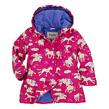 Buy Hatley Girls' Unicorn Classic Raincoat, Pink Online at johnlewis.com