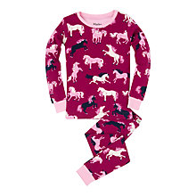 Buy Hatley Girls' Fairytale Horse Pyjamas, Pink Online at johnlewis.com