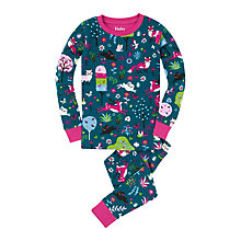 Buy Hatley Girls' Mystical Fall Forest Pyjamas, Green Online at johnlewis.com