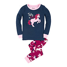 Buy Hatley Girls' Pretty In Pink Horse Pyjamas, Navy/Pink Online at johnlewis.com