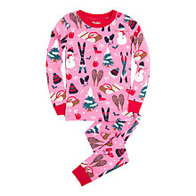Buy Hatley Girls' Vintage Holiday Pyjamas, Pink Online at johnlewis.com