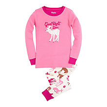 Buy Hatley Girls' Good Night Deer Pyjamas, Pink Online at johnlewis.com