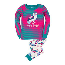 Buy Hatley Girls' Happy Owl Pyjamas, Pink/Green Online at johnlewis.com