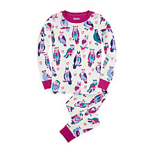 Buy Hatley Girls' Happy Owls Pyjama Set, Pink/Purple Online at johnlewis.com