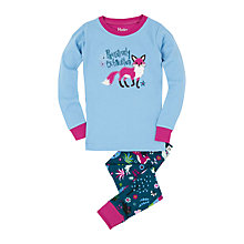 Buy Hatley Girls' Pawsitively Exhausted Pyjamas, Blue Online at johnlewis.com