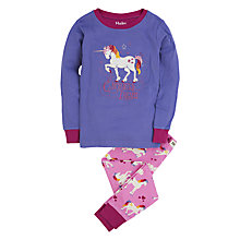 Buy Hatley Girls' Unicorn Applique Pyjamas, Purple Online at johnlewis.com