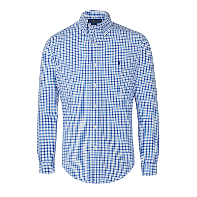 Image of Polo Ralph Lauren Long Sleeve Check Shirt, Blue