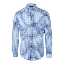 Buy Polo Ralph Lauren Long Sleeve Check Shirt, Blue Online at johnlewis.com
