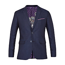 Buy Ted Baker Popping Linen Herringbone Suit Jacket, Navy Online at johnlewis.com