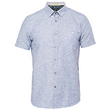 Buy Ted Baker Liming Short Sleeve Textured Linen Blend Shirt Online at johnlewis.com