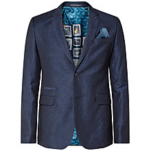 Buy Ted Baker Dreamas Jacquard Spotted Blazer, Navy Online at johnlewis.com