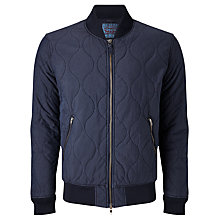 Buy Levi's Thermore Quilted Bomber Jacket, Nightwatch Blue Online at johnlewis.com