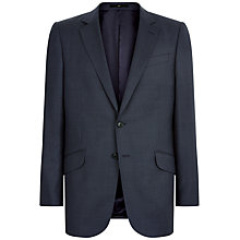 Buy Jaeger Wool Birdseye Classic Fit Suit Jacket, Navy Online at johnlewis.com