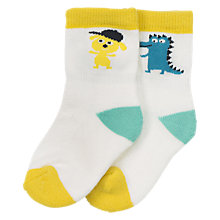 Buy Polarn O. Pyret Baby Socks, Pack of 2, White Online at johnlewis.com