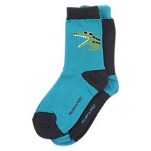 Buy Polarn O. Pyret Baby Crocodile Socks, Pack of 2, Blue Online at johnlewis.com