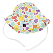 Buy Polarn O. Pyret Baby Polka Dot Hat, White Online at johnlewis.com