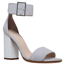 Buy Carvela Komet Block Heeled Sandals, Grey Suede Online at johnlewis.com