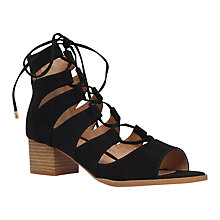 Buy Miss KG Darah Ghillie Block Heel Shoes, Black Suedette Online at johnlewis.com
