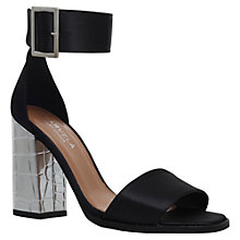 Buy Carvela Komet Block Heeled Sandals, Black Satin Online at johnlewis.com