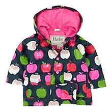 Buy Hatley Girls' Nordic Apples Raincoat, Navy Online at johnlewis.com