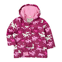 Buy Hatley Girls' Running Horses Raincoat, Purple Online at johnlewis.com