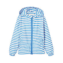 Buy Mango Kids Girls' Water Repellent Stripe Jacket, Blue Online at johnlewis.com