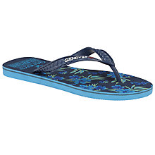 Buy Gandys for John Lewis Tropical Print Flip Flops Online at johnlewis.com