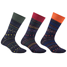 Buy John Lewis Fair Isle Socks, Pack of 3, Multi Online at johnlewis.com
