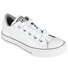 Buy Converse Children's Chuck Taylor All Star Street Lace Shoes, White Online at johnlewis.com