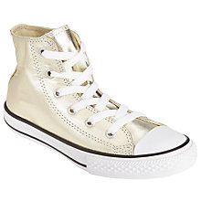 Buy Converse Children's Hi Top Metallic Tex Junior Shoes Online at johnlewis.com