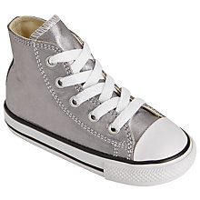 Buy Converse Children's Chuck Taylor All Star Lace Shoes, Silver Metallic Online at johnlewis.com
