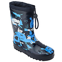 Buy John Lewis Children's Rewilding Camo Print Wellingtons Boots, Blue/Multi Online at johnlewis.com