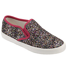 Buy John Lewis Children's Pheobe Glitter Slip On Shoes, Multi Online at johnlewis.com
