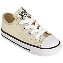 Buy Converse Children's Low Top Metallic Lace Trainers Online at johnlewis.com