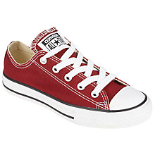 Buy Converse Children's Chuck Taylor All Star Junior Lace Shoes, Red Online at johnlewis.com