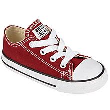 Buy Converse Children's Laced Red Block Trainers, Red Online at johnlewis.com